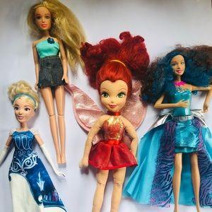 Set of Vintage Barbie Dolls *4